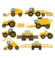 flat set of different agricultural vector image vector image