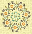Floral round ornament vector image vector image