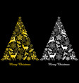 gold and white abstract christmas trees vector image vector image