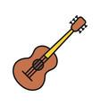 guitar color icon vector image