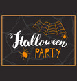halloween greeting card lettering calligraphy vector image vector image