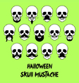 Halloween Skull Mustache vector image vector image