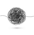 hand drawn tangle tangled thread sketch vector image vector image