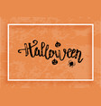 happy halloween creative lettering composition vector image