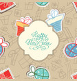 happy new year seamless pattern vector image vector image
