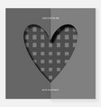 heart of gray paper on valentine s day vector image vector image