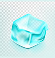 ice cube isolated transpatrent blue ice vector image