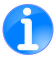 information icon vector image vector image