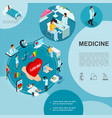 isometric medicine template vector image