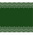 knitted holiday geometric green ornament design vector image vector image