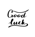 lettering inscription good luck vector image