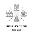 Line Banner France vector image vector image