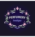 logo with a vignette of flowers Aromatherapy vector image vector image