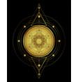 lotus and sacred geometry ayurveda symbol vector image