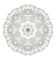 mandala coloring oriental pattern traditional vector image