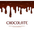 Melted dripping chocolate seamless vector image