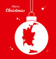 merry christmas theme with map of san diego vector image