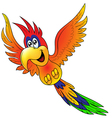 Merry flying parrot insulated vector image vector image