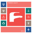modern faucet icon elements for your design vector image