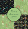 Native American Seamless Patterns Set vector image vector image