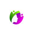 nature beauty logo vector image vector image