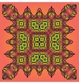 Oriental Floral Carpet Design vector image