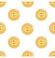 seamless pattern bitcoin coin technology digital vector image vector image