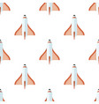 seamless pattern with rockets isolated on white vector image