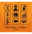set of 9 line icons vector image vector image