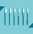 set of different toothbrush vector image