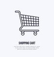 shopping cart flat line icons retail store vector image