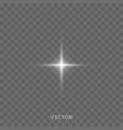 star shine light glitter sparkle glow shine vector image vector image