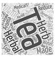 Tea Herbal Tea text background wordcloud concept vector image vector image