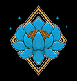traditional japanese lotus flash tattoo vector image