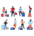 travel bags set vector image vector image