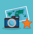 vacations travel holidays icons vector image vector image