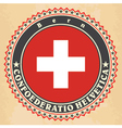vintage label cards switzerland vector image vector image