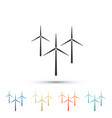 wind turbine icon isolated on white background vector image vector image