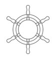 wooden boat helm vector image vector image