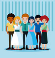 young people cartoons vector image
