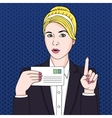 Businesswoman with letter vector image