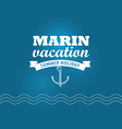 Marin wacation Summer holiday insignia Design vector image