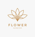 abstract flower logo design creative lotus symbol vector image