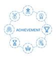 achievement icons vector image vector image