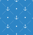 Anchor Seamless Pattern flat design vector image vector image