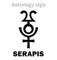 astrology serapis hellenistic graeco-egyptian vector image vector image