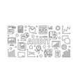 audit horizontal banner vector image
