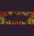 autumn background with leaves for shopping sale vector image vector image
