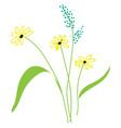 beautiful field flowers vector image