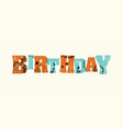 birthday concept stamped word art vector image vector image